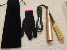 LANDOT Gold Flat Iron / Hair Curling Iron 2 in 1  Hair Straightener -Twister