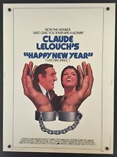 Original 1974 HAPPY NEW YEAR 30 x 40 Theatre Movie Poster Claude Lelouch