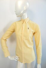 Ralph Lauren Womens Shirt Yellow Long sleeve Slim Fit UK4/US 0