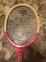 Vintage Garcia T-90 wooden tennis racquet Rare W/case LOOK!
