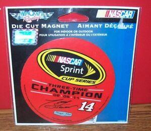 TONY STEWART 3 TIME CHAMPION 4X4 ROUND MAGNET