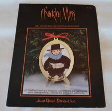 1991 LTD Ed Cross Stitch P Buckley Moss CHRISTMAS Ornament Kit Boy Holding Dove
