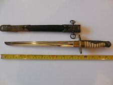 Replica Japanese Imperial Navy Officer's Dirk (Dagger) Sword with Scabbard