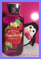 Bath and Body Works Bourbon Strawberry And Vanilla Shower Gel Body Wash Soap