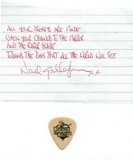 Oasis Noel Gallagher Signed Lyrics & Used Pick From Morning Glory AFTAL/UACC RD