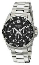 Accurist Mens Black Dial Stainless Steel Bracelet Watch MB1042B RRP £150
