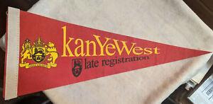 Rap Promotional Felt Pennant KANYE WEST - Late Registration - Promo only - Rare