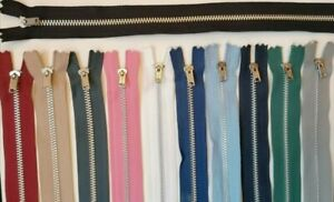 YKK METAL CLOSED END ZIP many Colours & Sizes Excellent Value