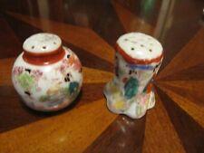 Vintage Asian Hand Painted  Salt & Pepper Shakers
