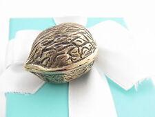 Tiffany & Co Silver Walnut Nut Pill Box Holder Box Included
