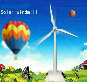 Mini Solarenergie Windmühle Windrad Windkraftanlage Modell Wohnkultur Spielzeug!