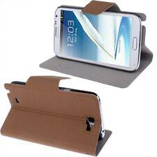 Slim Tasche Glatt Etui Case Hülle Braun für Samsung Galaxy Note II / N7100