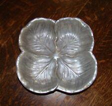 Rwp The Wilton Co Cabbage Leaf Design Ornamental Serving Fruit Pewter Like Bowl