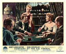 GUNFIGHT AT THE O.K. CORRAL ORIGINAL LOBBY CARD KIRK DOUGLAS POKER GAME