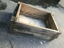 Vintage Small Arms Ammunition Cartridge Sport Loads Wood Box Crate