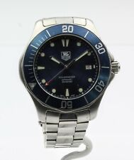 TAG HEUER AQUARACER AUTOMATIC MENS DIVER WATCH BLUE DIAL DATE WINDOW NR #8253