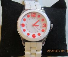 Marc by Marc Jacobs Women's White Silicone Band Watch F140