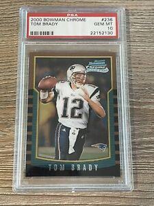 Tom Brady 2000 Bowman Chrome Rookie Card PSA 10 #236