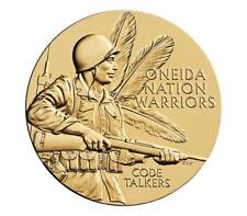USA MEDAL BU ONEIDA NATION CODE TALKERS BRONZE MEDAL CELEBRATES THE CODE TALKERS