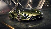 """2020 Lamborghini Sian Auto Car Art Silk Wall Poster Print 24x36"""""""