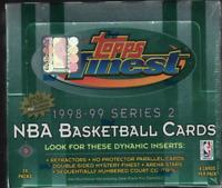 1998-99 Topps Finest Series 2 Basketball Sealed Hobby Box Carter Nowitzki RC PSA
