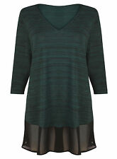 V Neck Classic 3/4 Sleeve Textured Tops & Shirts for Women