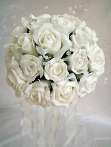 Brides,Bridesmaids,Flowergirl wedding bouquet, buttonholes,corsages White/Ivory