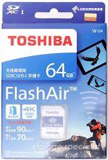 Toshiba 64 GB 64G Flash Air FlashAir Wireless LAN WLAN SDXC Class10 wifi eyefi