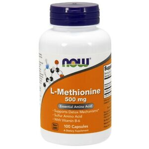 Now Foods L-METHIONINE 500mg 100 CAPS Made in USA FREE SHIPPING