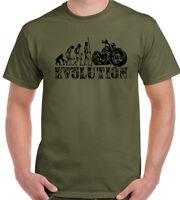 Motorbike Evolution Mens Funny Biker T-Shirt Motorcycle Indian Harley Bike