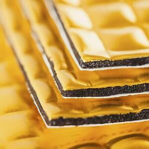PREMIUM 2.2mm 40 Sheets Car Van Office Sound Deadening Proofing Mat Gold UK