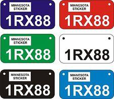 Wisconsin and Minnesota ENGRAVED ATV - UTV Plates - (Watch Info VIDEO below)