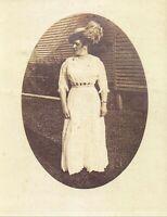 original real photo vintage postcard Edwardian Nurse Mounted and ready to frame. circa 1910s