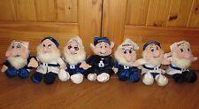 DISNEY Snow White & the Seven 7 Dwarfs WINTER COLLECTION Plush BLUE/WHITE Dolls
