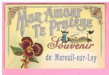 CPA - MAREUIL SUR LAY - 85  - CARTE FANTAISIE - MON AMOUR TE PROTEGE  SOUVENIR