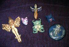 HAND CRAFTED METAPHYSICAL JEWELRY PINS! ONE BONUS ITEM!  UNIQUE AND LOVELY!