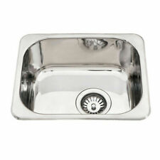 390*320*160mm Stainless Steel 1 Bowl Kitchen Laundry Small  Sink Round Corner