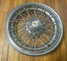 "(1) OEM 1986-96 Chevy Caprice 15"" Wire Spoked Hubcap Wheel Cover #1 GM 14102313"