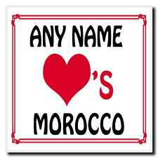 Love Heart Morocco Personalised Coaster