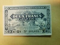2 FRANCS XF++- FROM FRENCH ALGERIA 1944 PICK-102