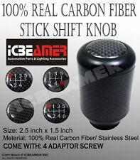 JDM Black Aluminum w/ Carbon Fiber Manual Gear Stick Shift Knob 5 6 Speeds C3