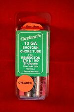 Carlson's Choke Tube 12 GA Remington 11-87, 870, 1100, 887 Cylinder
