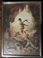 FRANK FRAZETTA Sword of Mars 14x20 Framed Canvas Poster Print FN+ 6.5