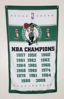 Boston Celtics Championship Banner 3x5 Flag Man Cave Decor NBA World Champions