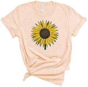 Sunflowers Shirt Super Soft T-Shirt Sun Flower Inspirational Unisex Tee S-3XL
