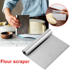 Stainless Steel Smoother Edge Dough Cake Scraper Kitchen Flour Pastry Cake Tool