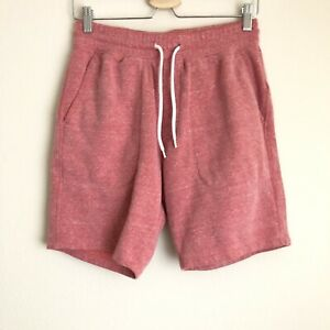 """Old Navy Womens Red Heathered Drawstring Sweat Lounge Gym Shorts Inseam 8"""" Sz S"""