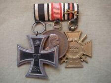 Ordensspange Prusia ek 2 + Austria color bronce Medalla al Valor + frontkämpf