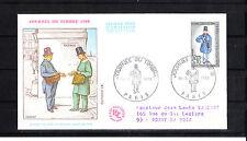 enveloppe 1er jour journée du timbre  Paris  voyagée      1968