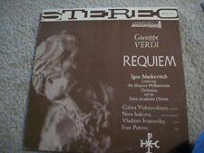 VERDI REQUIEM,VISHNEVSKAYA,MARKEVITCH (RARE) NEAR MINT STEREO LP